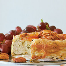 Roquefort Cheesecake with Pear Preserves and Pecans