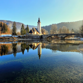 tranquil morning by Anže Papler - Landscapes Waterscapes