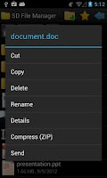 Screenshot of SD File Manager
