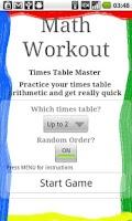 Screenshot of Math Workout Pro