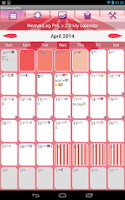 Screenshot of WomanLog Pro Calendar
