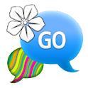 GO SMS - Neon Swirl Flower icon