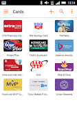 Screenshot of mobile-pocket loyalty cards