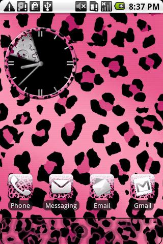 Leopard Print Pink Theme HD