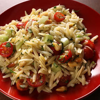Orzo Salad with Tomatoes and Pine Nuts