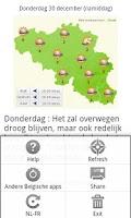 Screenshot of Météo Belgique, België