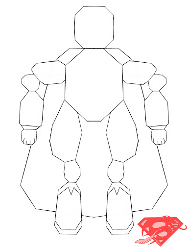 Line Art By Color Your Own : Octa hero line art create and color your own
