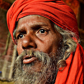 Staring Divine by Arnab Bhattacharyya - People Portraits of Men