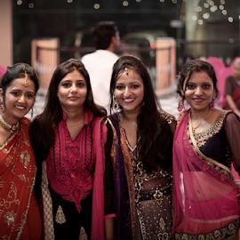 4 beauties by Deepak Sharma - People Family ( shaadi, colorful, color, wedding, dressed, beautiful, punjabi, saree, india, yamunnagar, sari )