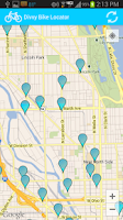 Screenshot of Divvy Bike Locator