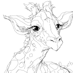 Sketch of a giraffe babbuuuu