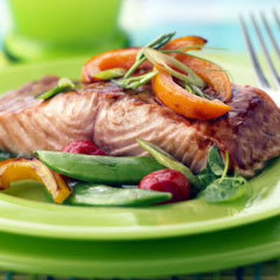 Sesame Ginger Salmon With Vegetables