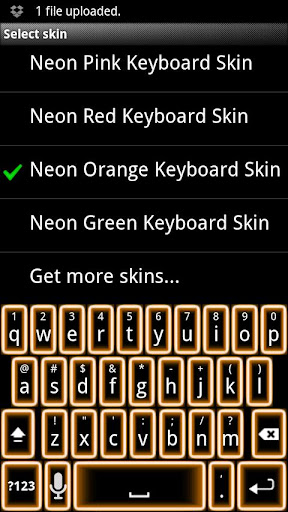 Orange Neon Keyboard Skin