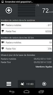 Screenshots  Radars France - CamSam