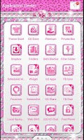 Screenshot of ♦BLING Theme♦ Pink Cheetah SMS
