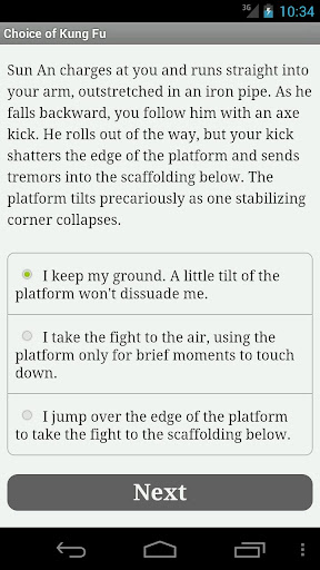 Choice of Kung Fu - screenshot