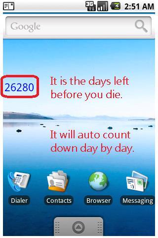 When will you die ur DaysLeft