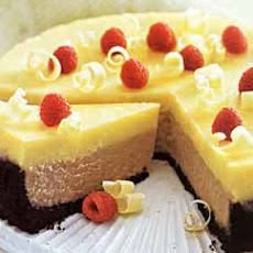 Double-Decker Raspberry and White Chocolate Cheesecake