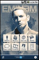 Screenshot of Eminem Fan Club (unofficial)
