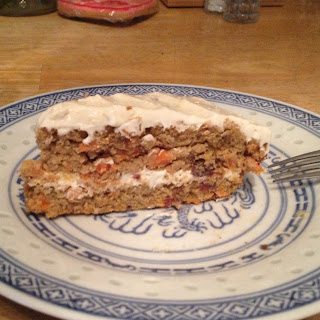 Paleo Carrot Cake w/ Maple Cream Cheese Frosting