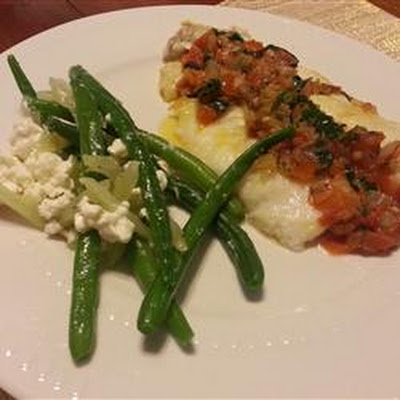 Fresh Green Beans, Fennel, and Feta Cheese