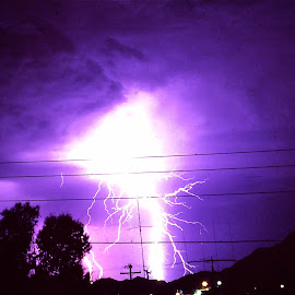 Lighting over Sunnyslope,AZ 1970's by Donna Probasco - Novices Only Street & Candid (  )