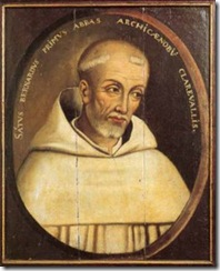 Portrait of Saint Bernard of Clairvaux in the Cathedral Treasury, Troyes.  Picture by Adrian Fletcher of ParadoxPlace.com