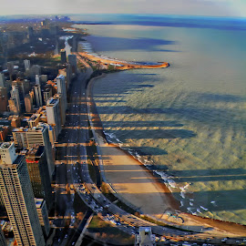 chicago skyline by Jon Radtke - City,  Street & Park  Vistas ( chicago skyline )