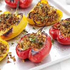 Pork & Bulghar-stuffed Peppers