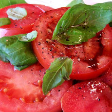 Tomatoes With Fresh Basil and Aged Balsamic
