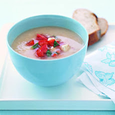 White Bean Soup with Tomato Salsa