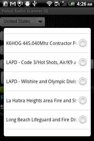 police-radio-scanner-se for android screenshot