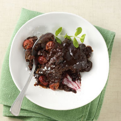Chocolate-Covered Cherry Pudding Cake