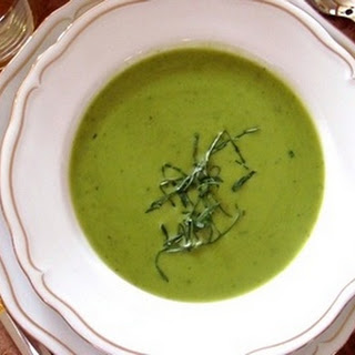 Cold Pea and Basil Soup