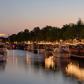 Brielle at sunset by Colin Dixon - City,  Street & Park  Vistas ( sunset, boats, holland, brielle, netherlands )
