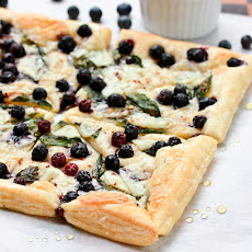Savory Blueberry Ricotta Pizza