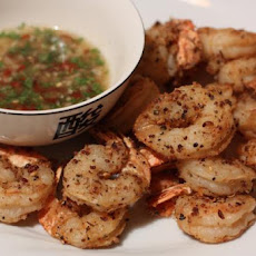 Salt and Pepper Prawns with Lime and Chilli Dipping Sauce