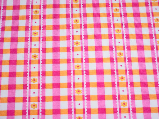 Pink Gingham Stripe