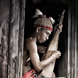suku dayak by Allan Dharmawan - People Portraits of Men