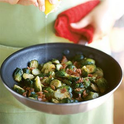 Brussels Sprouts with Crisp Prosciutto
