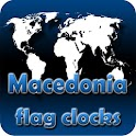 Macedonia flag clocks icon