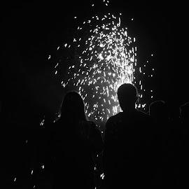 Fireworks by Jane Dunne - People Family ( backlit, fireworks,  )