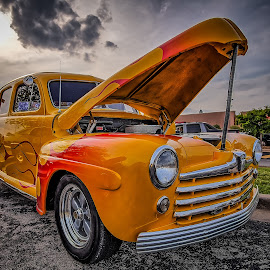 Gold Flames by Ron Meyers - Transportation Automobiles