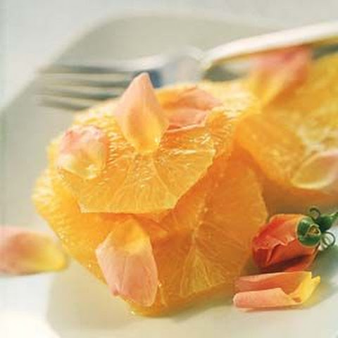 Orange Slices in Rose Flower Water