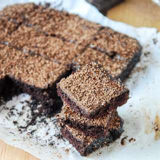 Cocoa Brownies with Chocolate Fudge Frosting