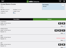 Screenshot of Saba Enterprise for Good