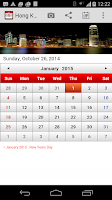 Screenshot of Hong kong Calendar 2015