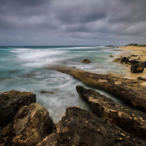 Seascape a Cozumel by Cristobal Garciaferro Rubio - Landscapes Weather ( clouds, water, shore, sand, sea, rocks )