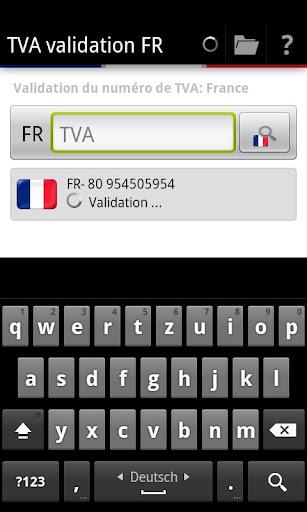 TVA validation FR