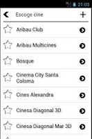 Screenshot of Cine Cartelera